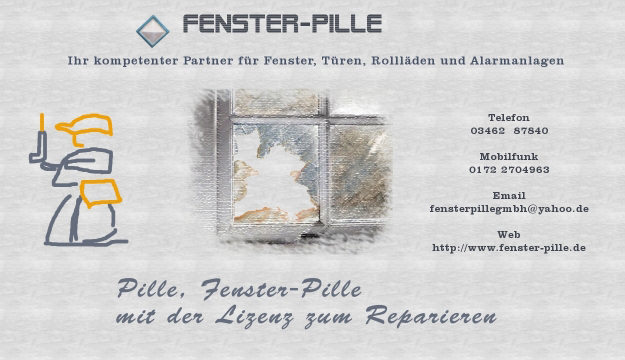 Fenster Pille  Flyer